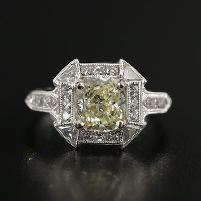 Vintage Platinum 2.08 CTW Diamond Ring