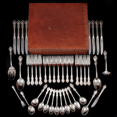 "Reed & Barton ""Hampton Court"" Sterling Silver Flatware, Mid to Late 20th Century"