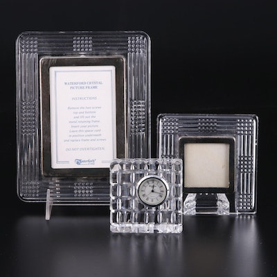 Waterford Crystal Picture Frames and Square Quartz Clock