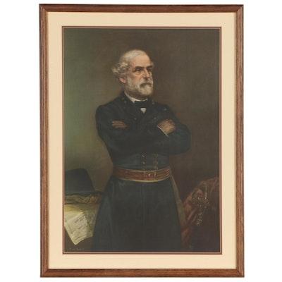 Offset Lithograph of General Robert E. Lee after J.A. Elder