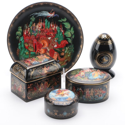 Bradford Exchange Russian Miniature Porcelain Trinket Boxes and other Decor