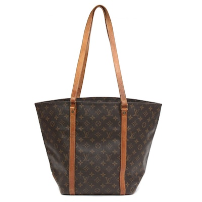 Louis Vuitton Shopping Sac in Monogram Canvas and Vachetta Leather