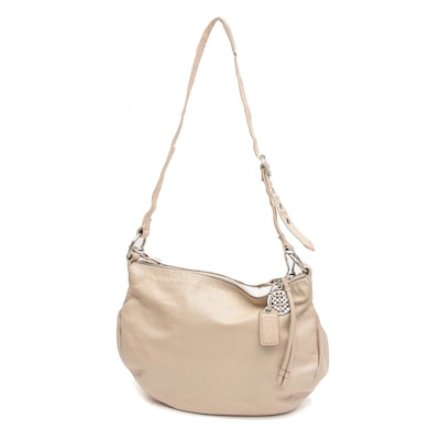 Coach Putty Leather Convertible Hobo Shoulder Bag