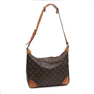 Louis Vuitton Boulogne Shoulder Bag in Monogram Canvas and Vachetta Leather