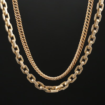 Vintage Watch Fob Chains Featuring 10K Gold
