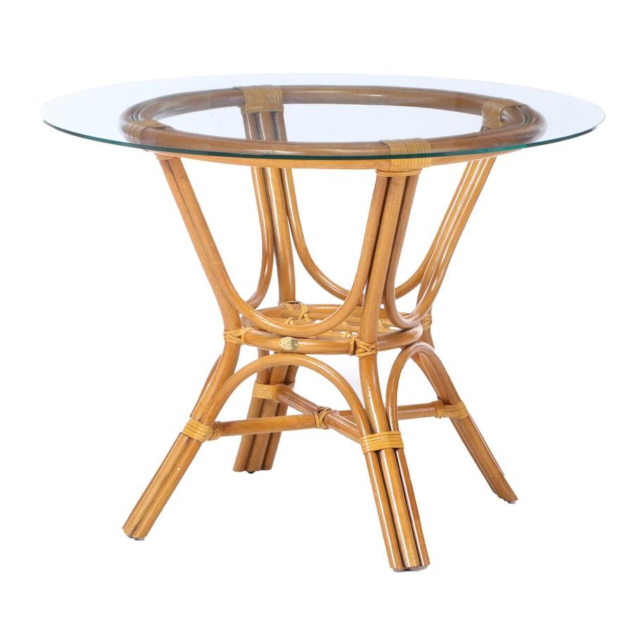 Boca Rattan Glass Top Patio Dining Table