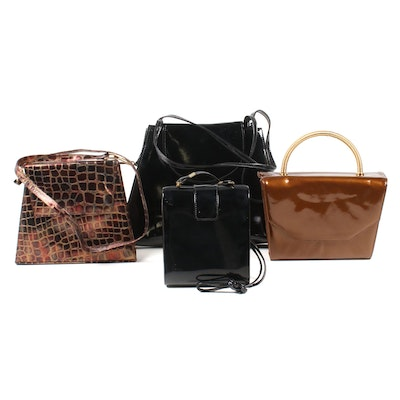 Stuart Weitzman, Magid and Timothy Hitsman Patent Leather Handbags, Vintage