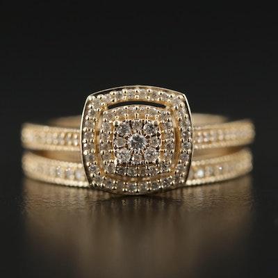 10K Gold Diamond Ring Set