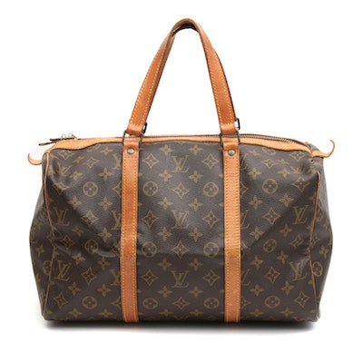 Louis Vuitton Sac Souple 35 in Monogram Canvas and Vachetta Leather, Vintage
