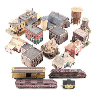 Model Train Structures with Trains