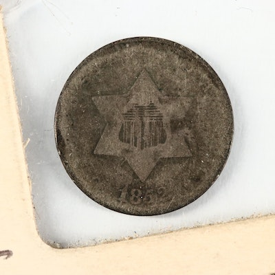 "1852 3-Cent Silver ""Trime"" Coin"