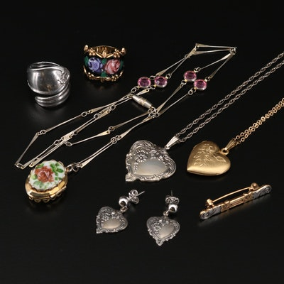 Floral and Heart Jewelry Featuring Joseph Esposito