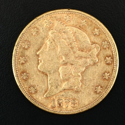 1878-S Liberty Head $20 Gold Double Eagle Coin