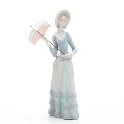 "Lladró ""Aranjuez Little Lady"" Bisque Finish Figurine"