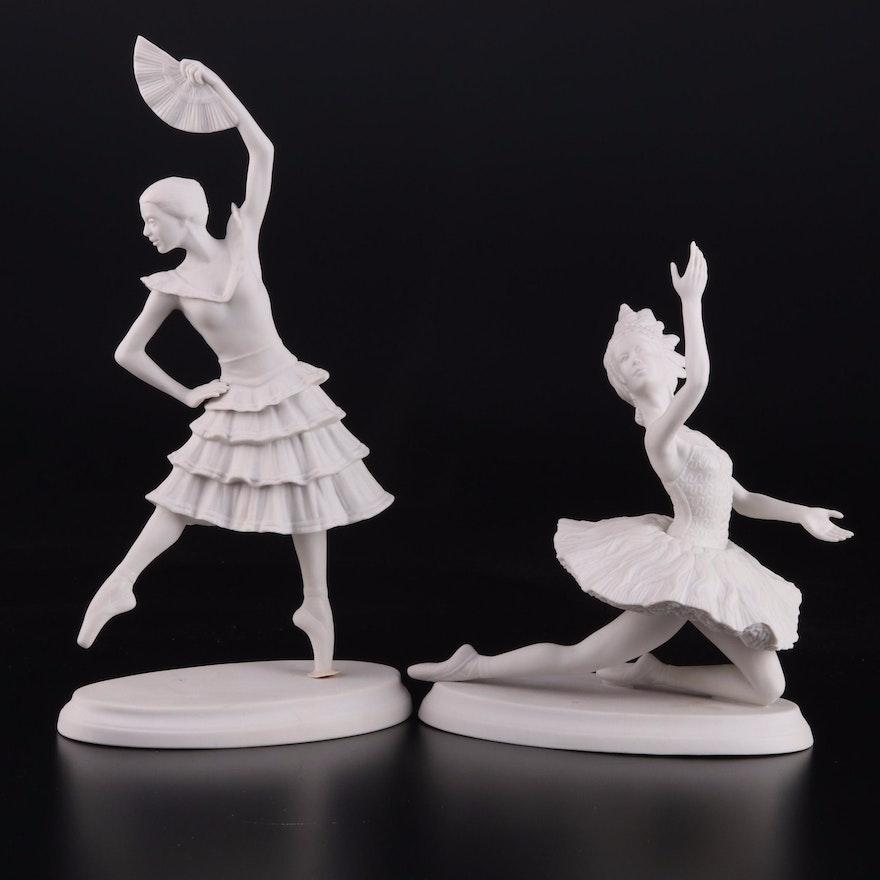 "Boehm Classical Ballet ""Firebird"" and ""Don Quixote"" Porcelain Figurines"