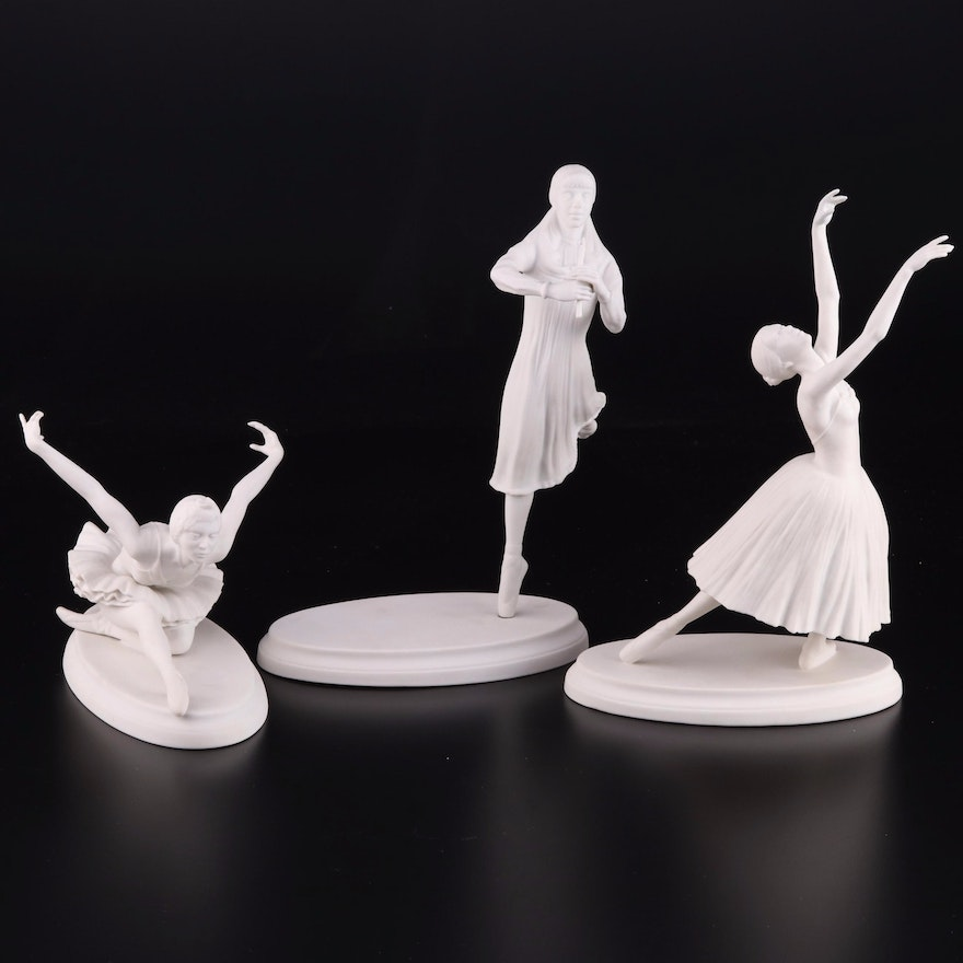 """Boehm Classical Ballet """"Giselle,"""" """"Nutcracker"""" and """"Swan Lake"""" Figurines"""