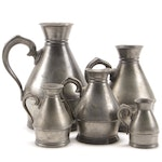 Austen & Son Pewter Pitchers, Late 19th Century