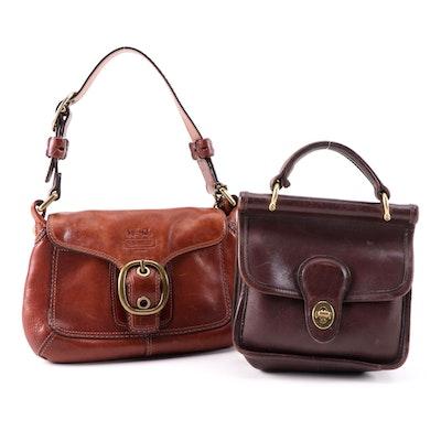 Coach Mini Winnie and Bleecker Leather Handbags