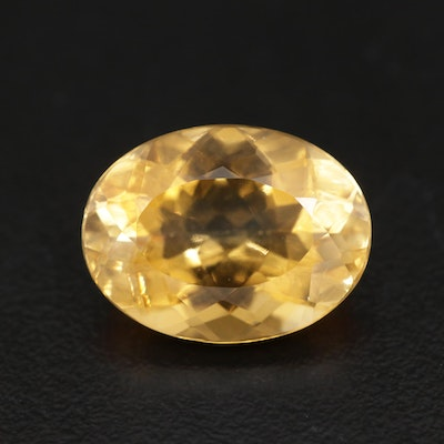 Loose 8.49 CT Oval Faceted Citrine