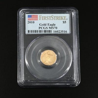 2010 $5 (1/10 ounce) Gold Eagle