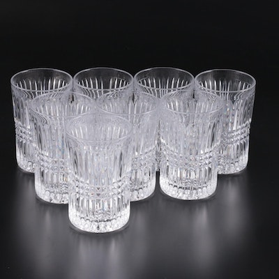 "Fostoria ""Aspen"" Glass Tumblers, Mid to Late 20th Century"