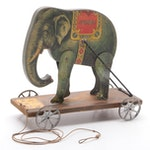 """Gibbs """"Performing Jumbo"""" Elephant Pull Toy with Patented Date of 1911"""