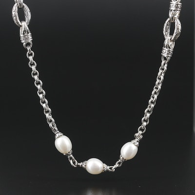 Scott Kay Sterling Silver Pearl Necklace