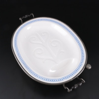 Poultry Carving Platter and Warmer, Early 20th Century