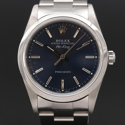 2006 Rolex Air King Stainless Steel Automatic Wristwatch