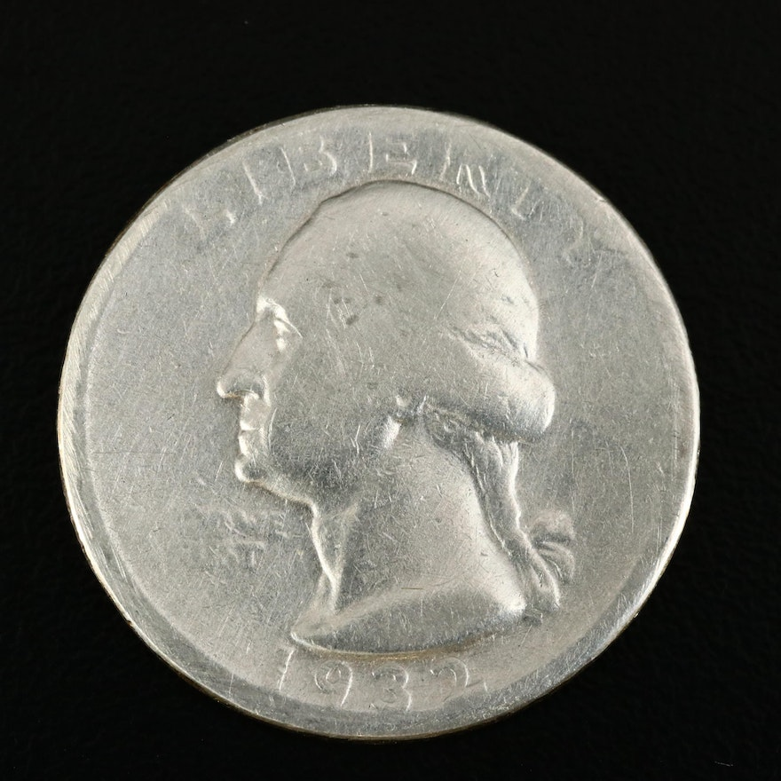 Key Date Low Mintage 1932-D Washington Silver Quarter