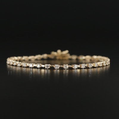 14K Yellow Gold 1.43 CTW Diamond Line Bracelet