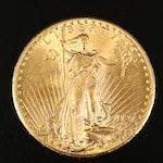 1927 Saint-Gaudens $20 Gold Double Eagle Coin