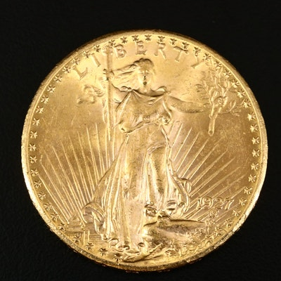1927 Saint-Gaudens $20 Gold Double Eagle Coin
