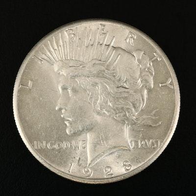 Key Date Low Mintage 1928 Peace Silver Dollar