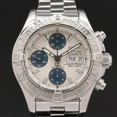 Breitling Chrono Super Ocean Stainless Steel Automatic Wristwatch
