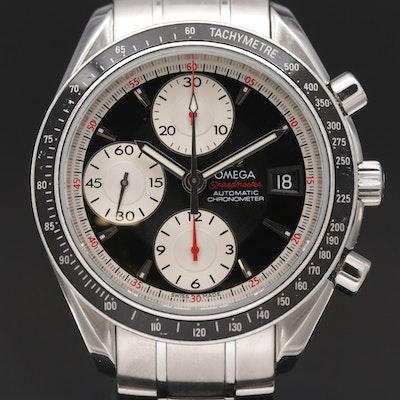 2007 Omega Speedmaster Date Stainless Steel Automatic Wristwatch