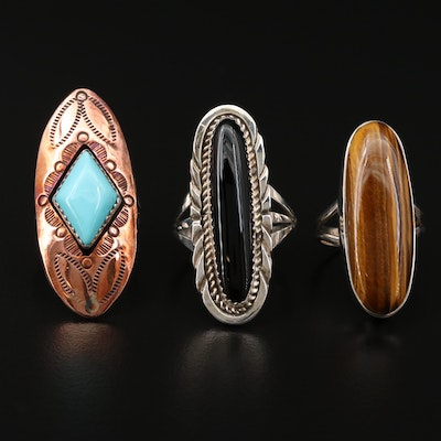 Sterling Rings Featuring Lorraine Spencer Navajo Diné and Running Bear Shop
