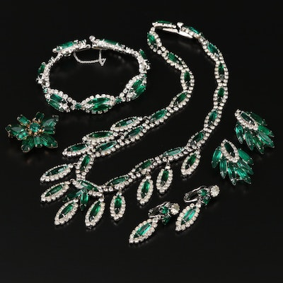 Vintage Rhinestone Jewelry Featuring Kramer of New York