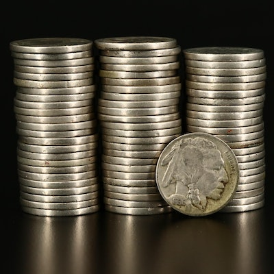 Seventy-One Full Date Buffalo Nickels, 1920s and 1930s