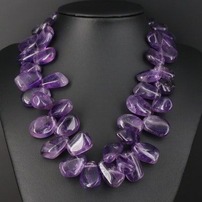 Amethyst and Glass Necklace