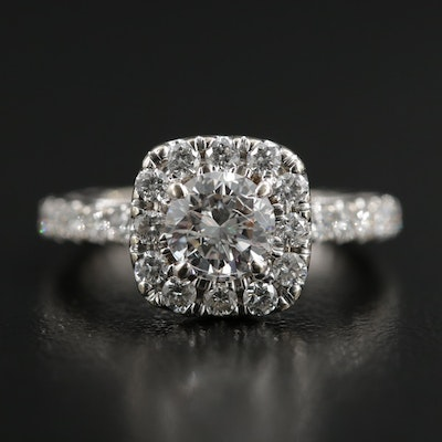 18K White Gold 1.66 CTW Diamond Ring