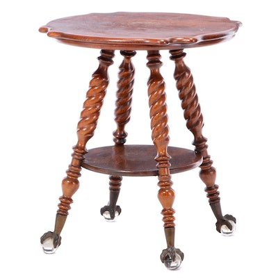 Late Victorian Oak Two-Tier Side Table, circa 1900