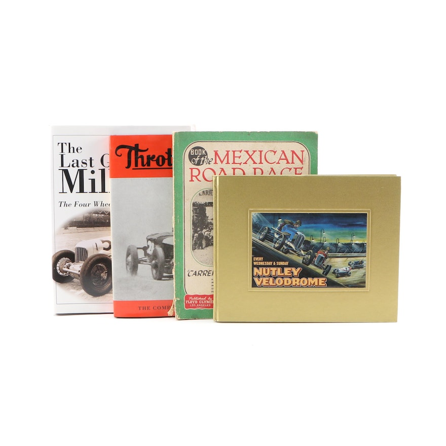 """1950 """"Book of the Mexican Road Race"""" with Other Automotive Books"""