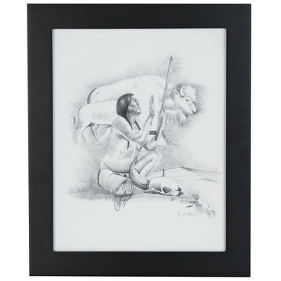Frankie Nez Giclée of a Native American
