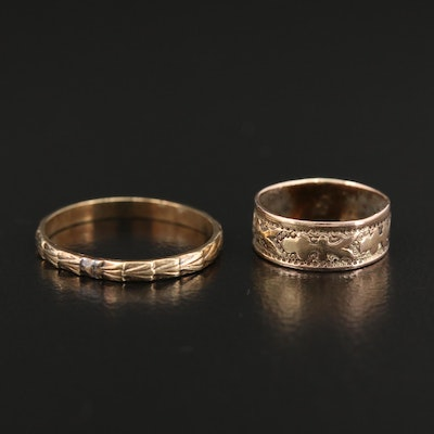 Antique 10K Yellow Gold Baby Rings with Presentation Box