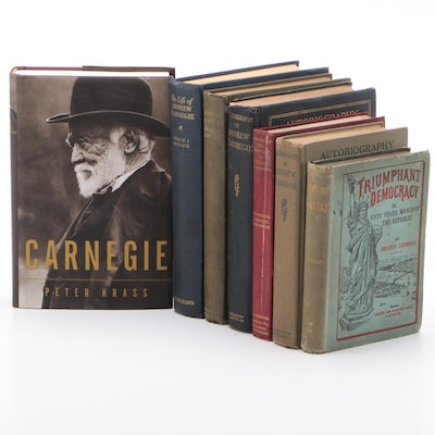 "1886 ""Triumphant Democracy"" by Andrew Carnegie with Other Carnegie Volumes"