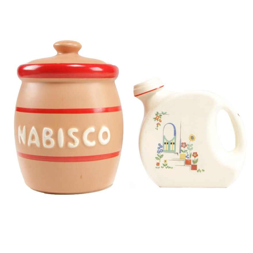 McCoy Pottery Nabisco Cookie Jar and Universal Cambridge Pitcher, Late 20th C.