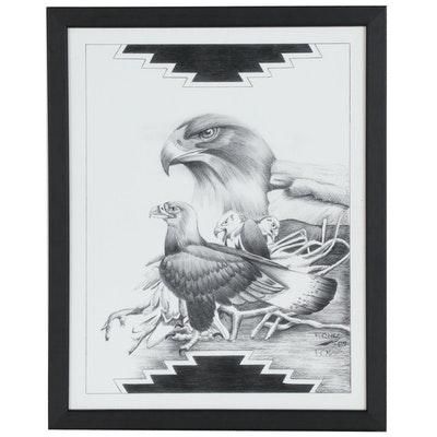 Frankie C. Nez Giclée of Golden Eagles
