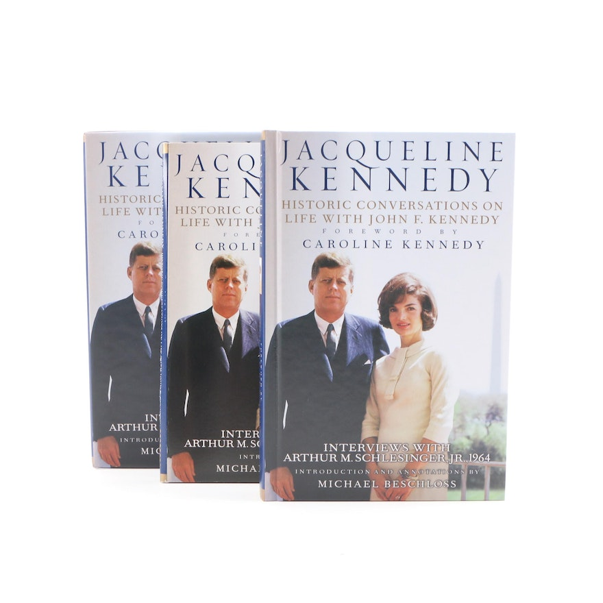 """Signed """"Jacqueline Kennedy: Historic Conversations on Life with J.F.K."""" with CDs"""