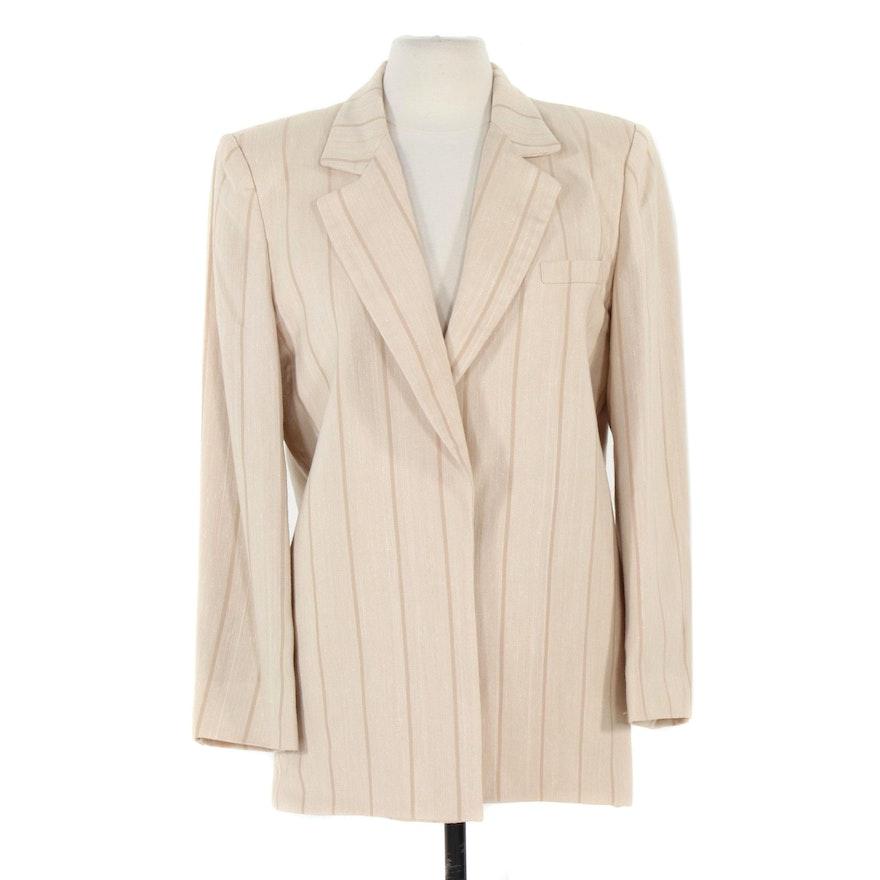 Christian Dior Le Tailleur Open-Front Blazer, 1980s Vintage